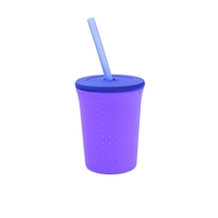 GoSili Kubek ze Słomką Purple/Navy 350ml